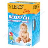 LEROS BABY Dětský čaj dých. cesty s lípou n. s. 20x2g
