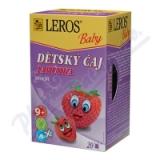 LEROS BABY Dětský čaj Jahůdka n. s. 20x2g