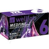 Wellion MEDFINE jehly inz. pera 0. 25x6mm 31G 100ks