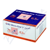 Inzulin. stříkačky BD 0. 3mlx8mm DEMI U-100 100ks