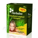 Herbalex detoxik. náplast s konopím 10ks+40%gratis