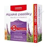 Cemio Alpské pastilky šalvěj a vitamin C pst. 30+10