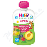 HiPP BIO 100% ovoce Jablko-Broskev-Lesní ov.  100g