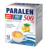 Paralen horký nápoj bez cukru 500mg por. plv. sol. 12