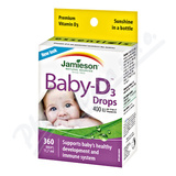 JAMIESON Baby-D3 Vitamín D3 400 IU kapky 11. 7ml