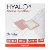 Hyalo4 Silic. Adhes. Border Foam Dres. 7. 5x7. 5cm 10ks