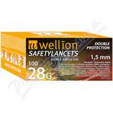 Wellion Safety Lancets jednoráz. bezp. jeh. 28G 100ks