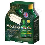 Mollers Omega 3 citron+jablko dárk.  balení 2x250ml