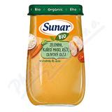 Sunar BIO příkrm Zelenina kuř. maso rýže ol. ol. 190g