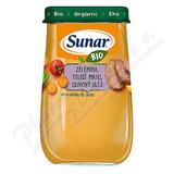 Sunar BIO příkrm Zelenina telecí maso ol. olej 190g