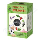 LEROS Dětský čaj bylinný+ BIO 20x2g