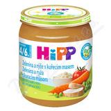 HiPP BABY BIO Zelenina a rýže s kuřecím masem 125g